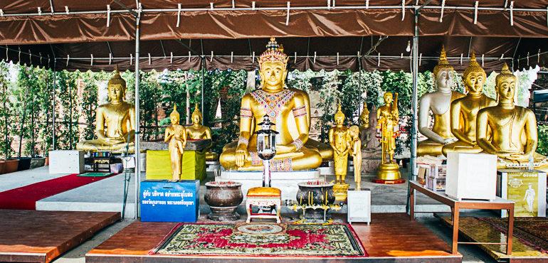 imagens de buda em Ayutthaya