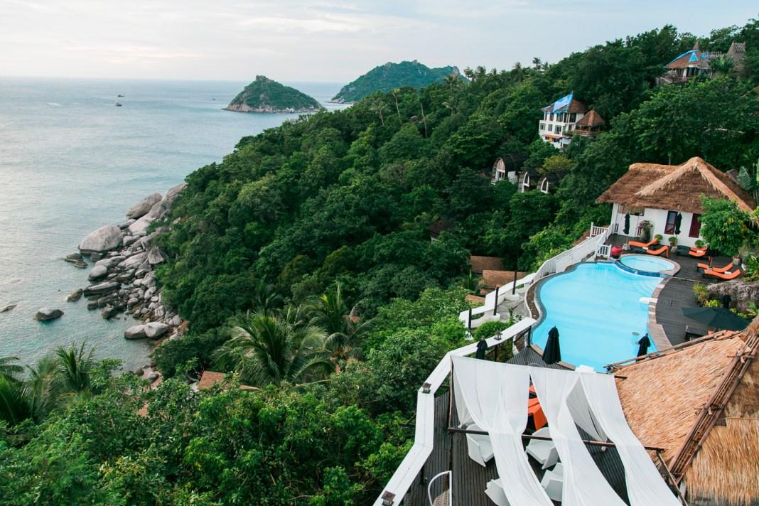 Vista do Hotel em Koh Tao (Koh Nang Yuan)