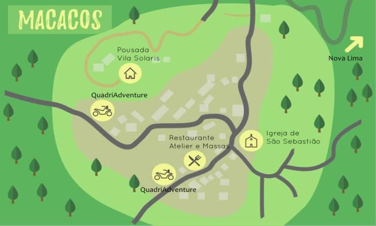 mapa de macacos
