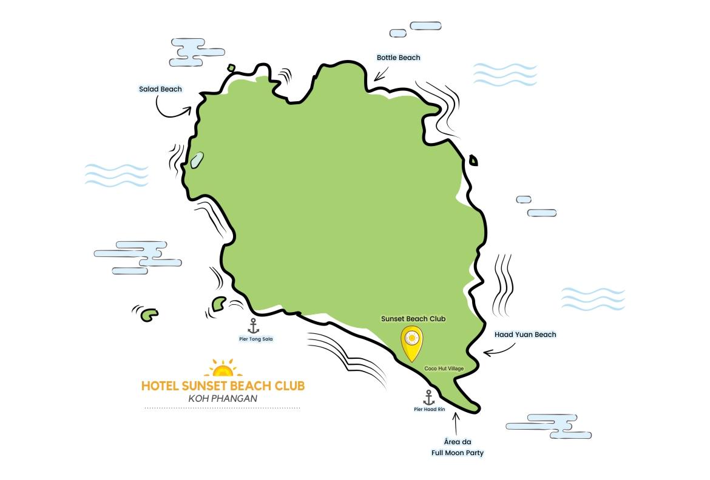 Mapa de Koh Phangan   Viajando na Janela