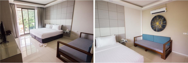 Quarto do hotel Sunset Beach Club em Koh Phangan   Viajando na Janela