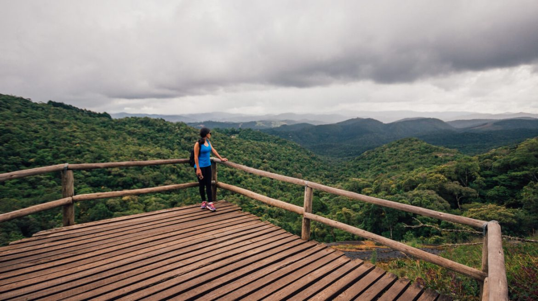 Mirante da trilha da Pedra Redonda, em Monte Verde