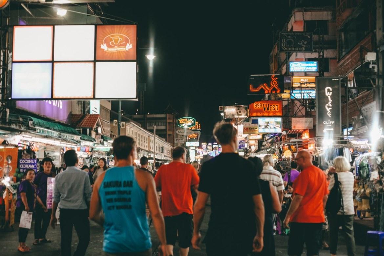 O que fazer em Bangkok - Khao San Road