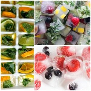 gelos com frutas e ervas