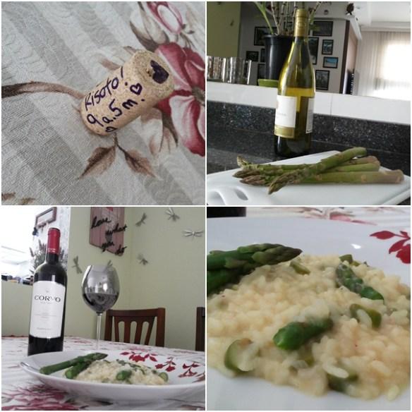 risoto de aspargos comemoração