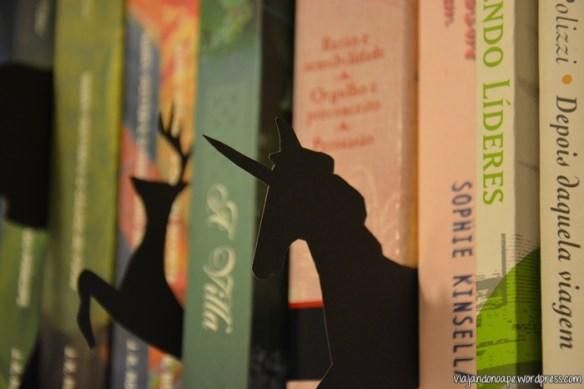 unicórnio_decoração de estante de livros_silhuetas
