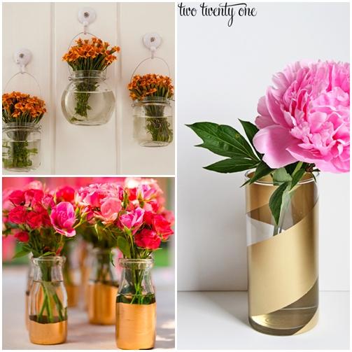 arranjo de flores potes frascos de vidro 2