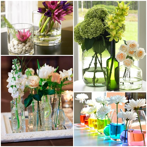diferentes formas de arranjos de flores
