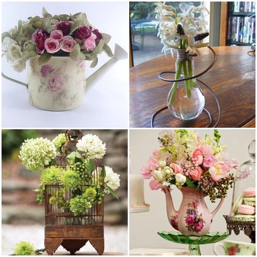 flores no regador lampada gaiola bule