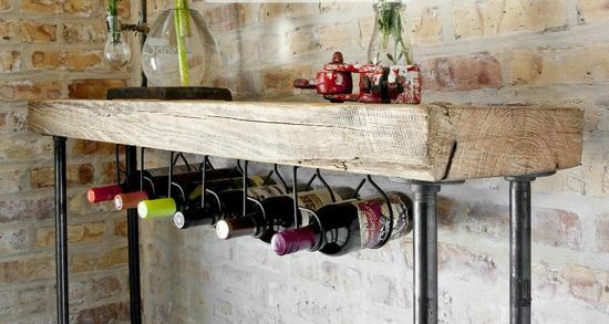 rack para vinho bebidas