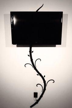 fios aparentes tv decoraçao