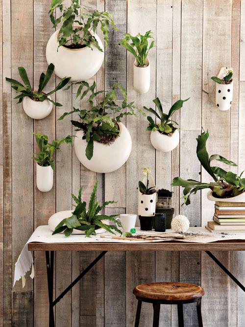vasos brancos composiçao parede decoracao