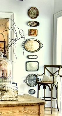 bandejas decoracao parede
