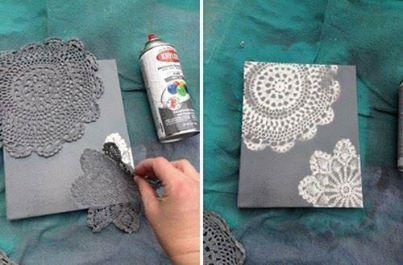croche molde pintura
