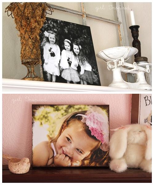fotos na tela de pintura diy