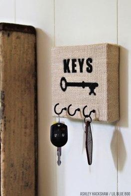 porta chaves tela pintura