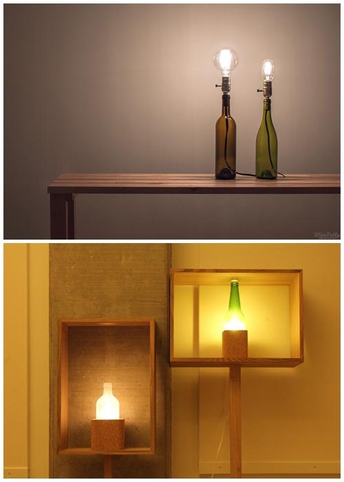 abajur luminarias garrafas diy faça voce mesmo ideias decoraçao
