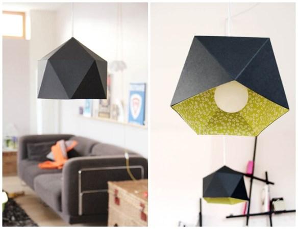 luminaria geometrica origami diy faça voce mesmo