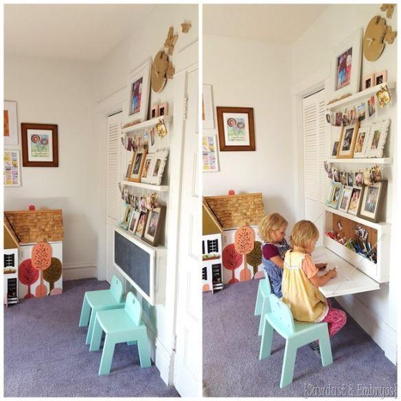 mesa suspensa parede infantil quarto criancas faca voce mesmo diy