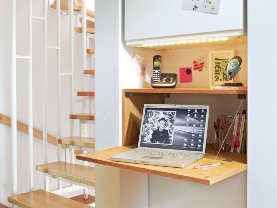mesa trabalho armario mesa suspensa