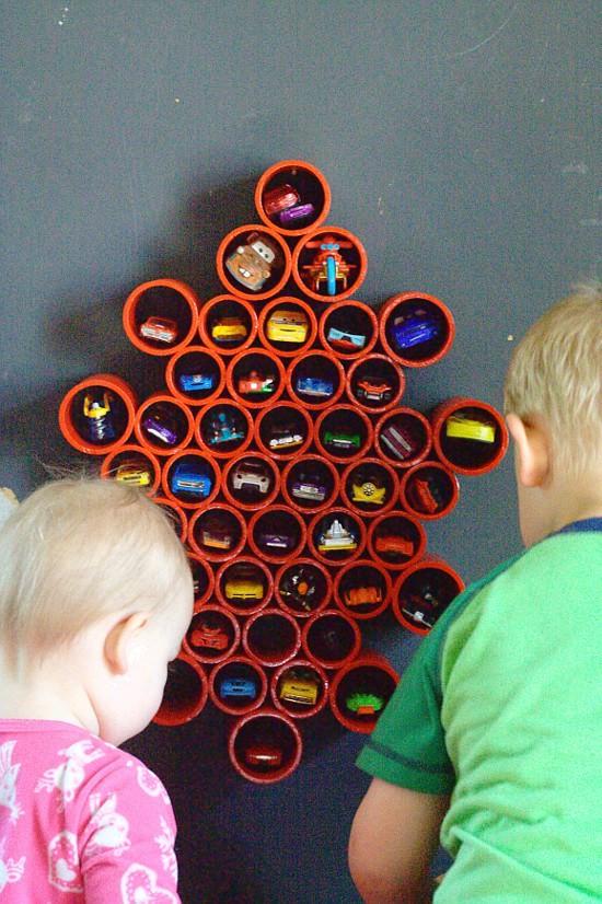 brinquedos organizados carrinhos como guardar ideias criativas