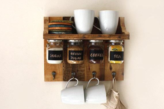 cantinho cafe suporte parede madeira