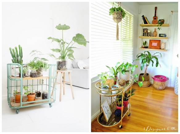 carrinho bar usos vasos plantas em casa decoracao ideias criativas
