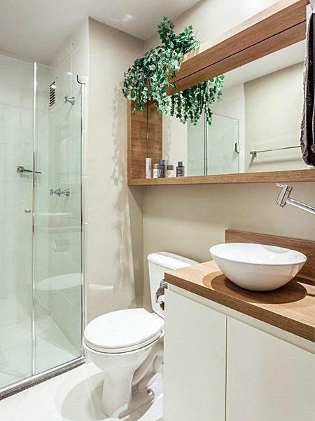decoracao banheiros bancada madeira