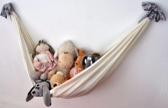 ideias para guardar bichinhos ursinhos pelucia parede rede