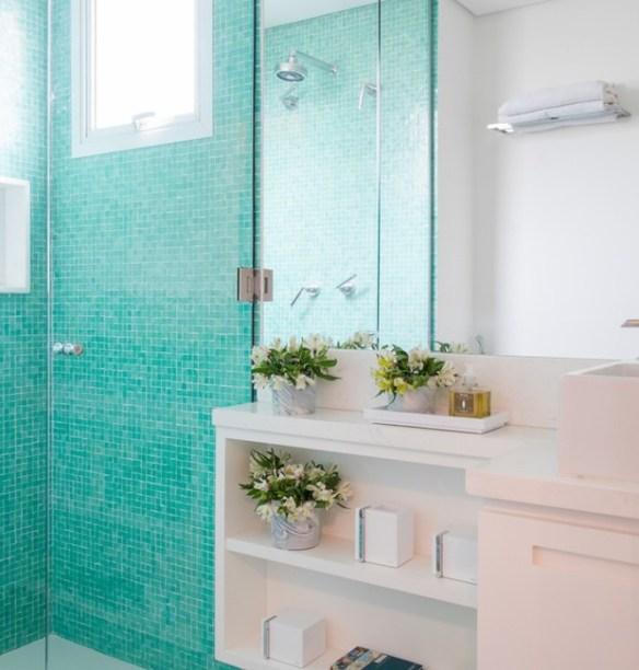 pastilhas coloridas banheiro boxe decoracao banheiro