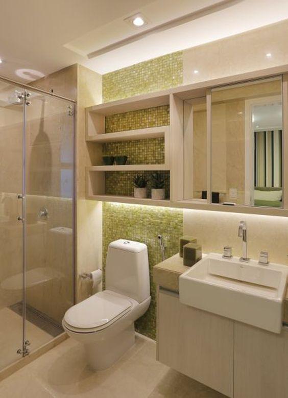 pastilhas madreperola nicho banheiro decoracao