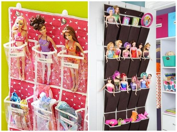 porta bonecas barbie porta trecos ideias para organizar bonecas