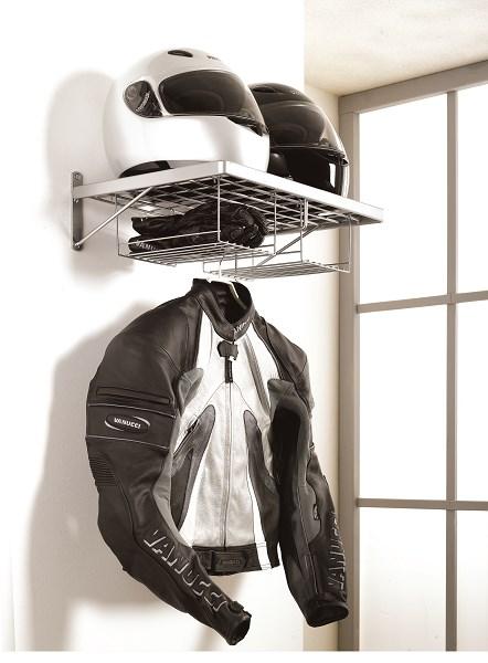 prateleira capacete ideia para guardar o capacete