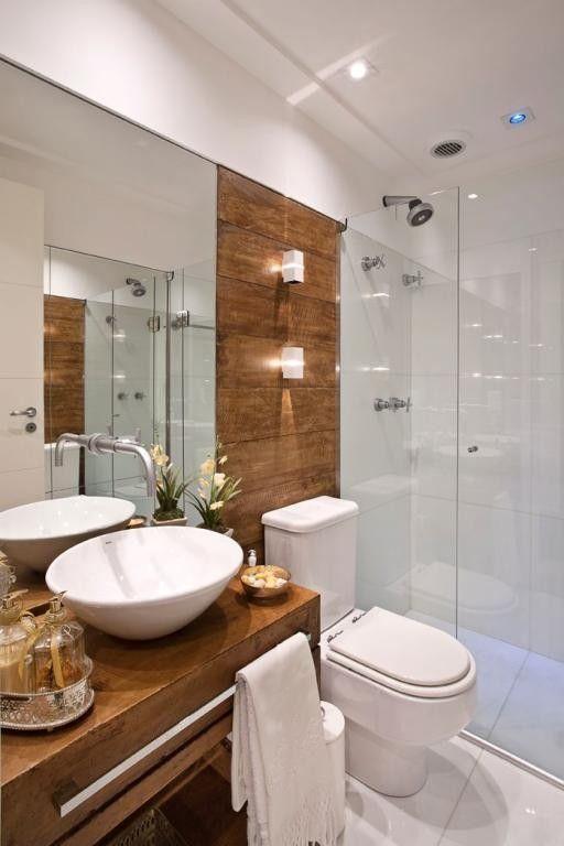 revestimento que imita madeira decoracao banheiros parede do vaso