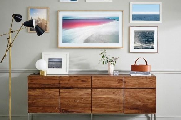 smart TV Samsung-The-Frame-tv- televisao-decoracao quadros camuflar tv