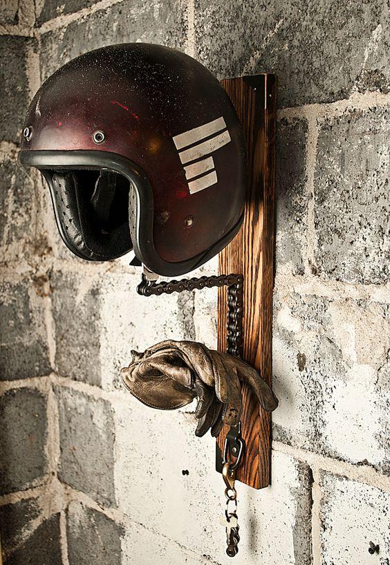 suporte para capacete faca voce mesmo