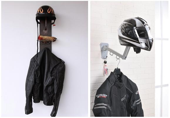 suporte para capacete parede ideias