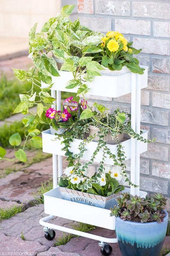 vasos plantas decoracao carrinho bar