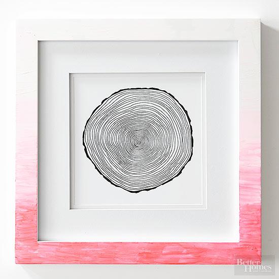 decoracao moldura degrade ombre personalizar moldura quadro
