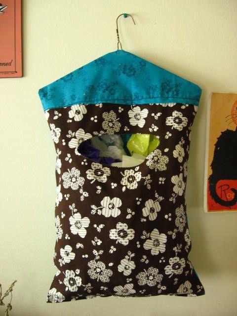 porta sacola tecido