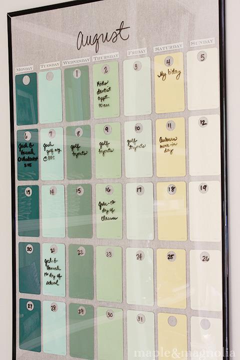 calendario quadro vidro faca voce mesmo diy reciclar molduras reutilizar reaproveitar
