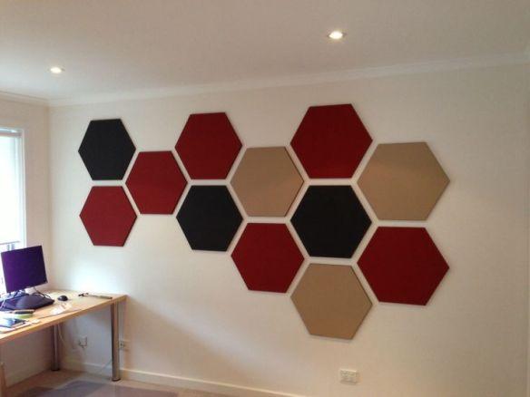 decoracao parede figuras geometricas