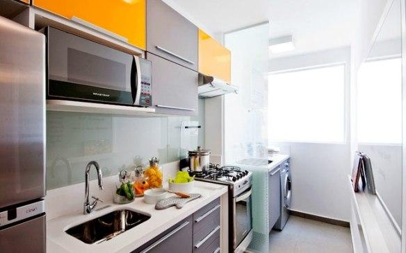 divisoria vidro cozinha lavanderia como separar cozinha armario amarelo