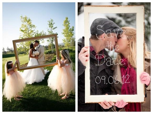fotos criativas molduras casamento save the date