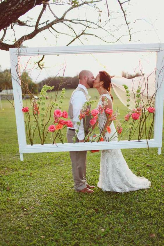 ideias fotos casamento moldura