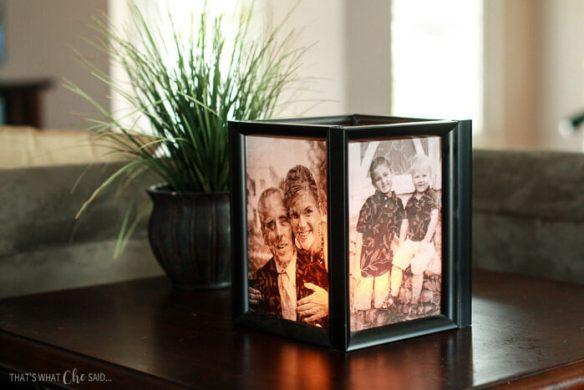 luminaria de mesa fotos porta retrato faca voce mesmo diy reutilizar molduras reaproveitar reciclar