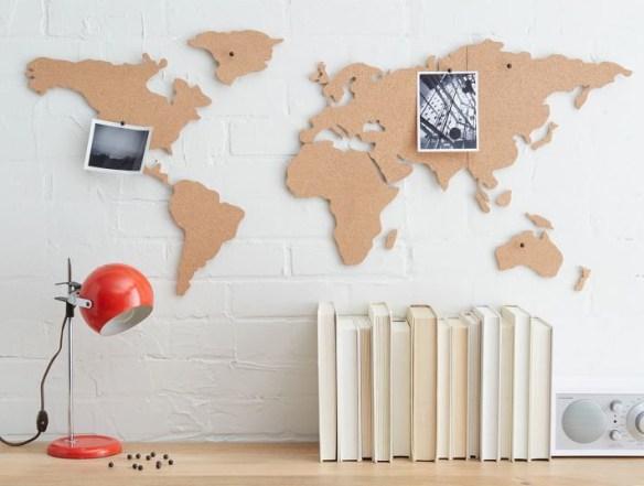mapa mundi cortica decoracao parede viagem