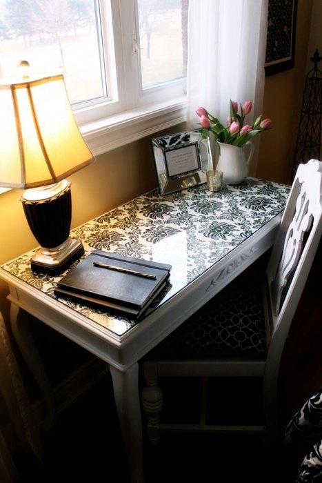 mesa trabalho escrivaninha renovacao contact papel parede adesivo vinil