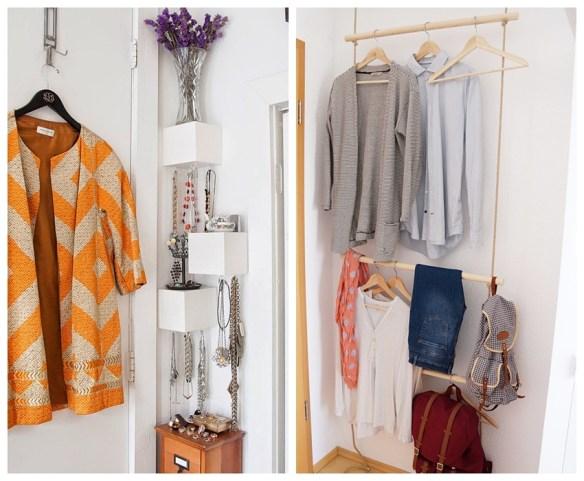 aproveitar espaco atras da porta closet cabideiro suspenso organizacao bijuterias pequenos espacos