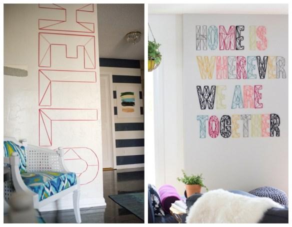 decoracao frases palavras tipografia parede linhas pregos decoracao parede faca voce mesmo